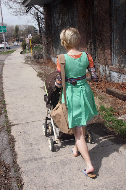 mint+swirl+dress+on+the+go - My Mint Swirl Skater Dress & A Thrift Trip