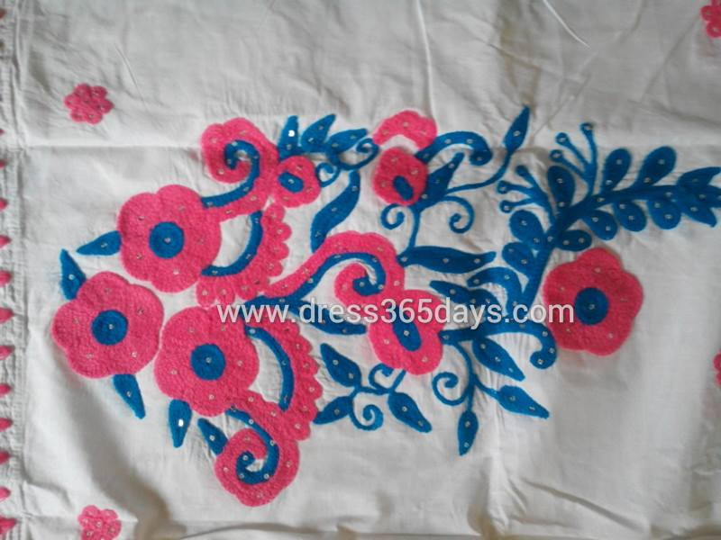 Lucknow chikan wholesale and retail : applique work semi stitched