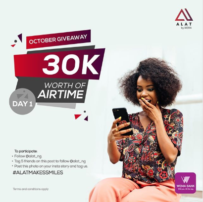 Alat by Wema is giving out 30k worth of Airtime - here's how to participate