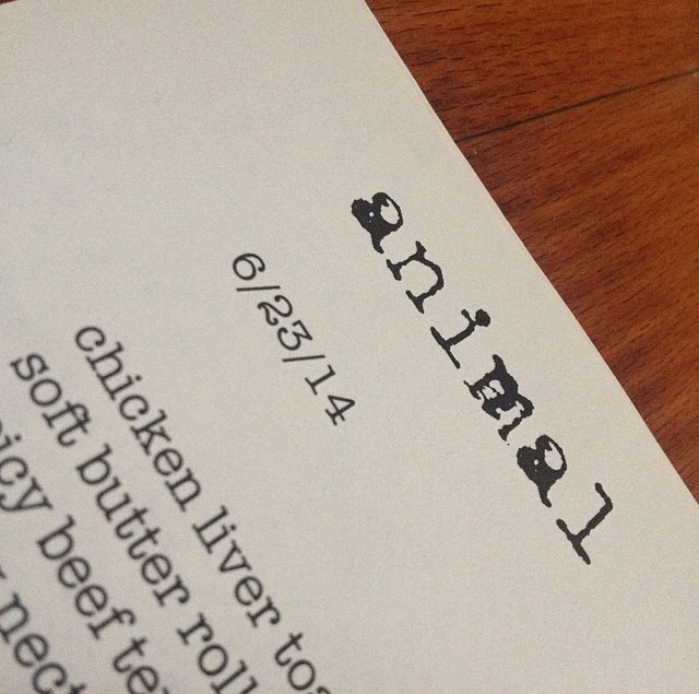 LA, Animal, restaurant review, eating fabulously, Christopher Stewart, restaurant, California