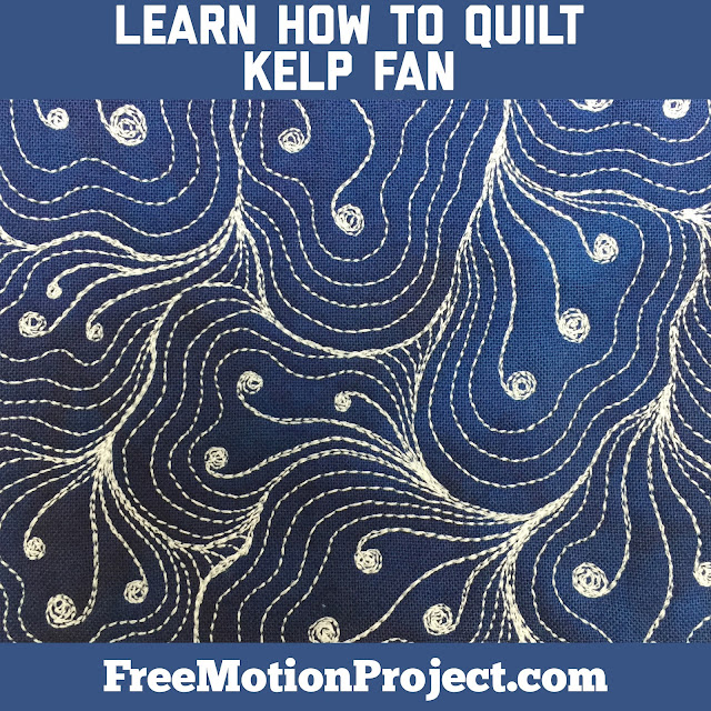 Learn how to machine quilt Kelp Fan in a new video quilting tutorial with Leah Day