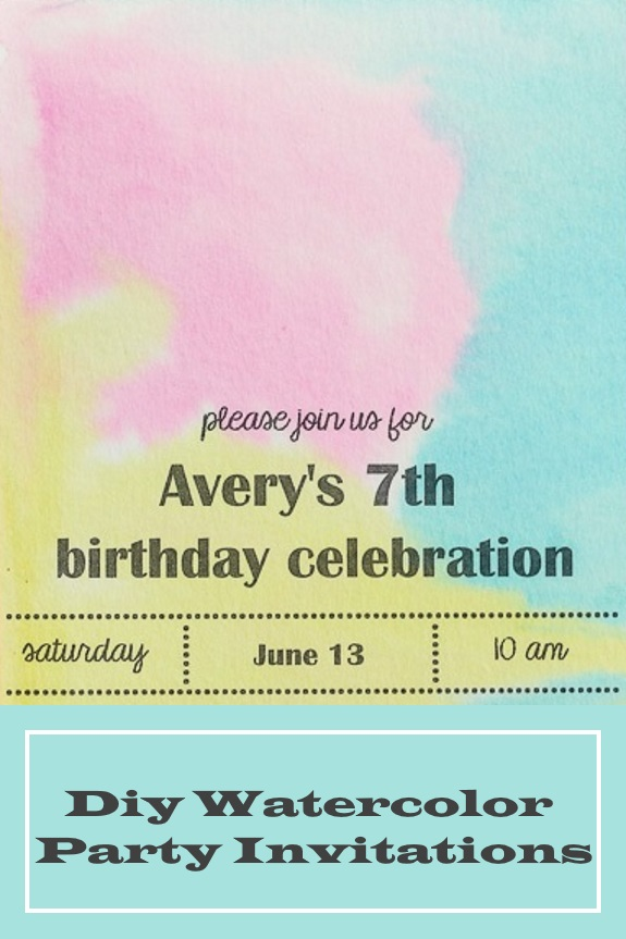 sweeter than cupcakes watercolor party invitation