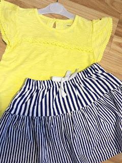 Set bé gái bộ áo và chân váy ( bên trong có quần ), xịn dư hiệu Carter's, made in Vietnam, size 4-8T.