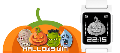 Hallowswin Halloween watchface for Pebble 2