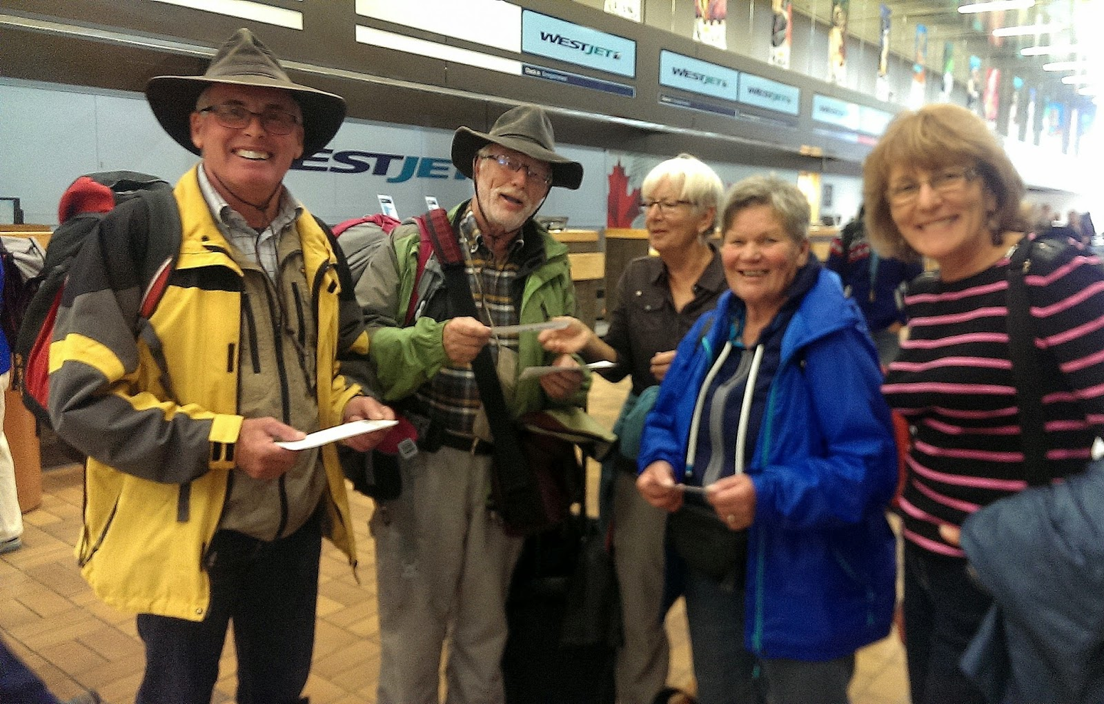 Whitehorse Airport - Saying good-bye to Hansuli, Christian, Annemarie and Lisbeth