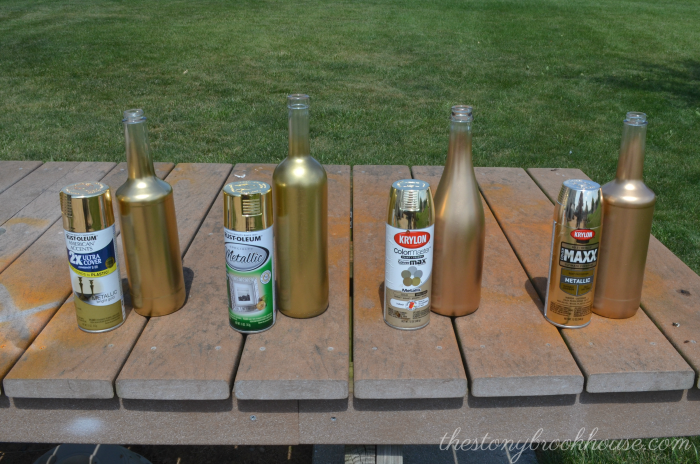 Gold Spray Paint Dilemna - The Stonybrook House