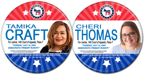 Tamika Craft and Cheri Thomas are the Dem Runoff Candidates for 14th Court of Appeals, Place 7