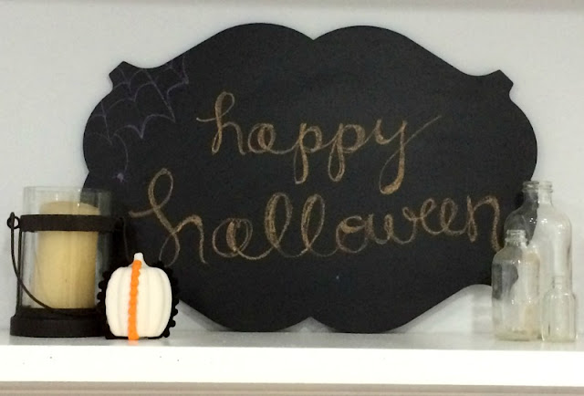How to Create a Spooky Halloween Mantel on a budget.