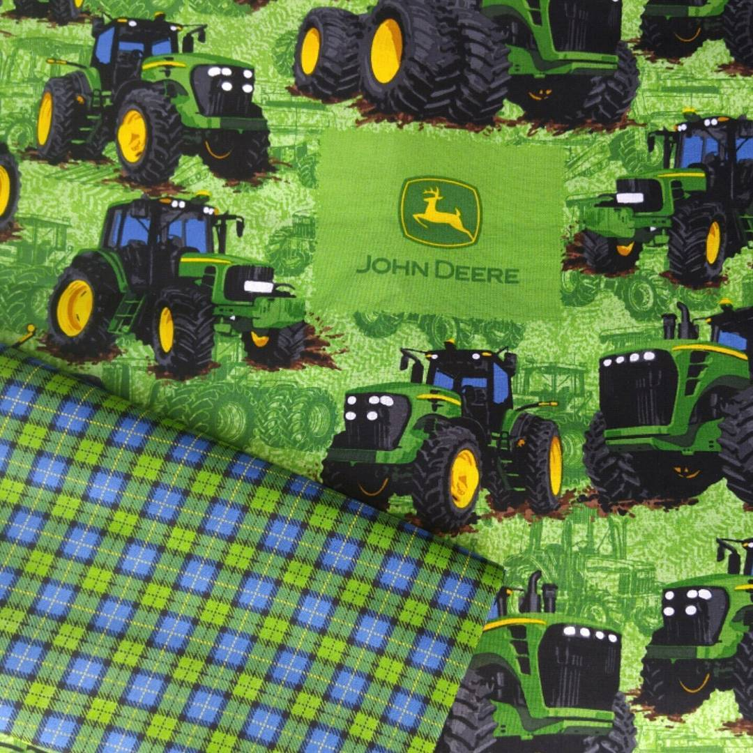 Kats Out Othe Bag John Deere Quilted Memory Wall Hanging