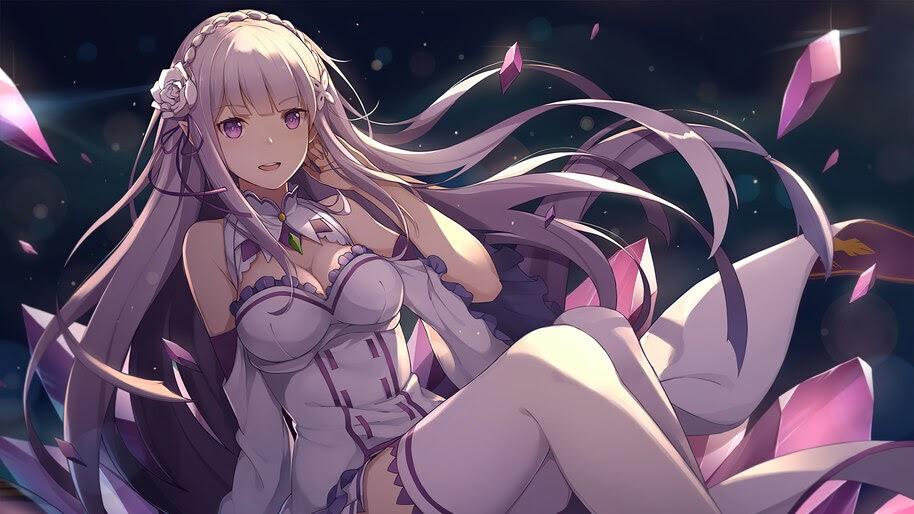 Emilia, Re:Zero, Anime, Girls, 4K, #4.2787