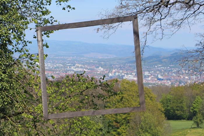 Wanderweg zum Schönberg-Gipfel, Blick auf Freiburg