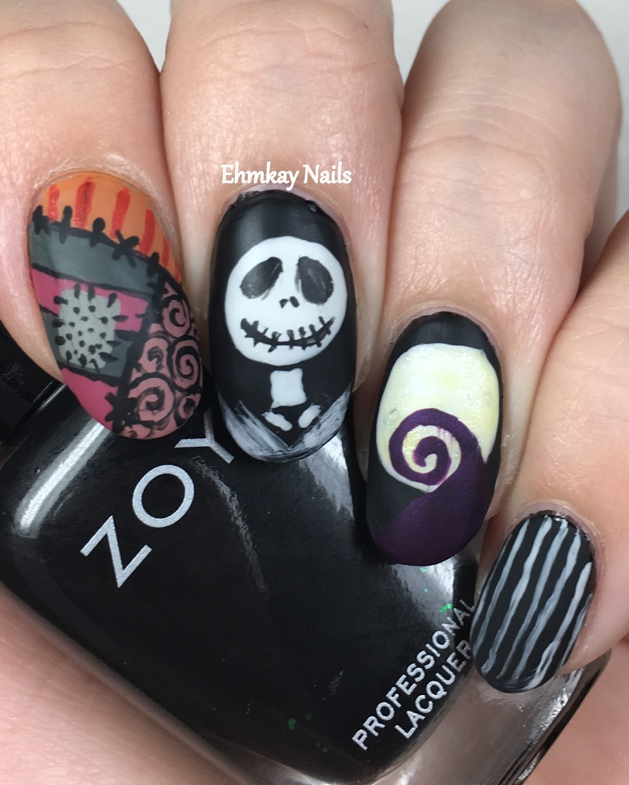 ehmkay nails: 13 Days of Halloween Nail Art: Nightmare Before ...