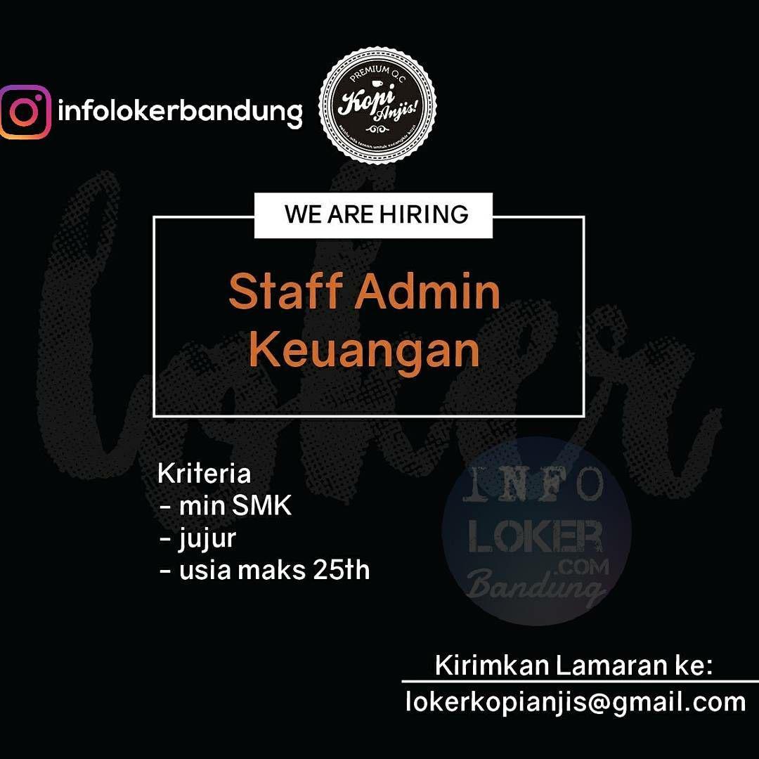 Lowongan Kerja Kopi Anjis Bandung November 2017