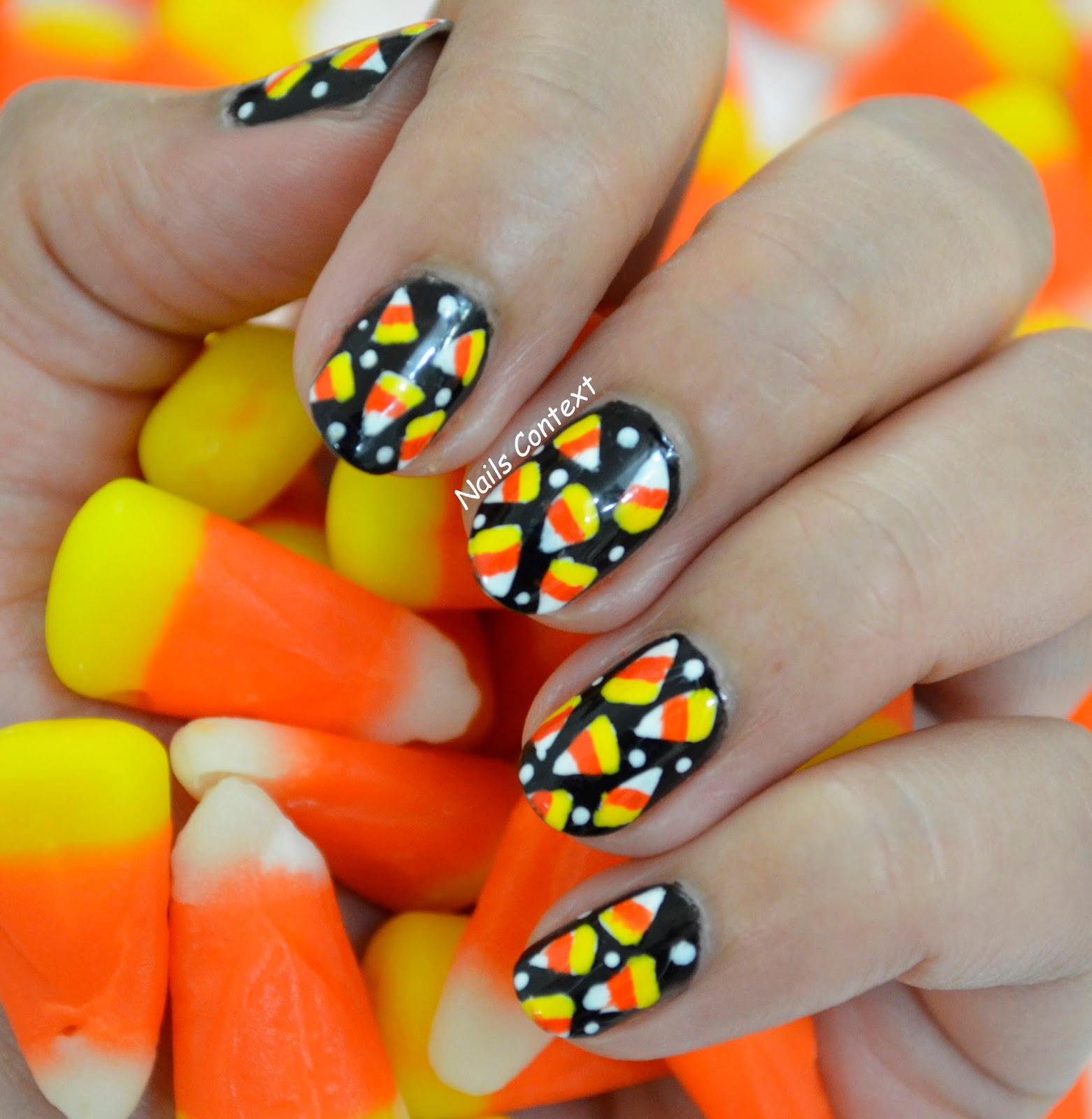Nails Context Candy Corn