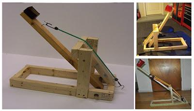 Catapultas caseras de madera