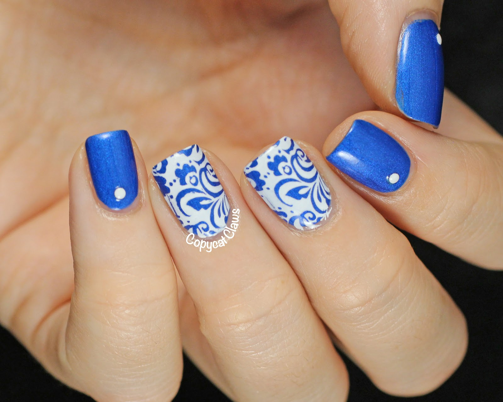Copycat Claws: Blue & White Porcelain Nail Stamping ...