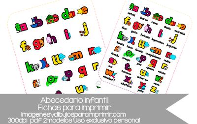 abecedario infantil para imprimir