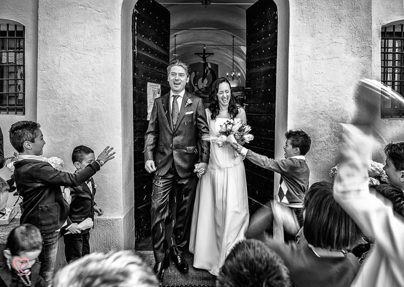 Matrimonio di Alessia e Fabio,uscita degli sposi