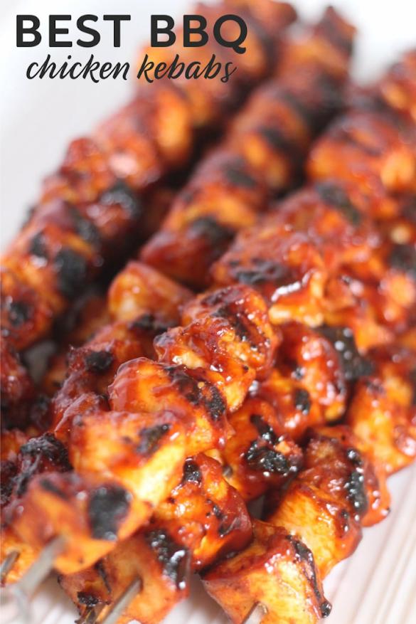 One of the best chicken recipes – BBQ Chicken Kebabs!