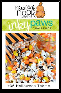 Inky Paws #36 Halloween Challenge | Newton's Nook Designs #newtonsnook