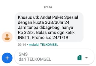 paket internet Tri 3GB 30 hari