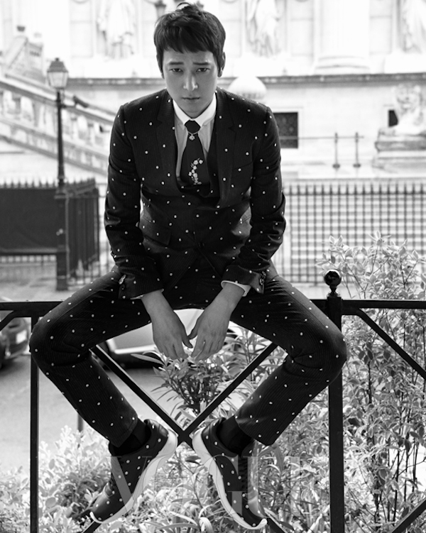 Kang Dong Won in Paris for Vogue Korea September 2014
