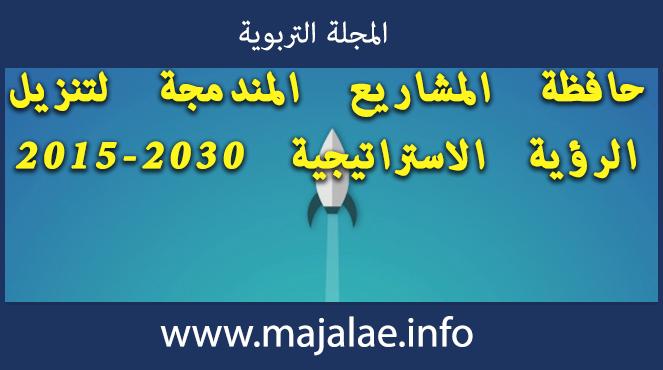 حافظة المشاريع المندمجة لتنزيل الرؤية الاستراتيجية 2015-2030