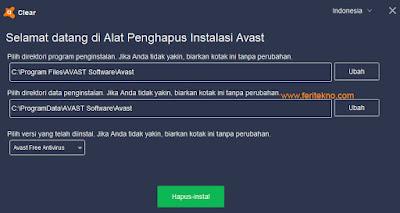 cara hapus antivirus avast 3