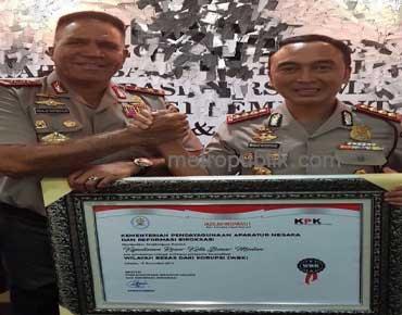 Polrestabes Medan Raih Penghargaan WBK dari MenPAN RB