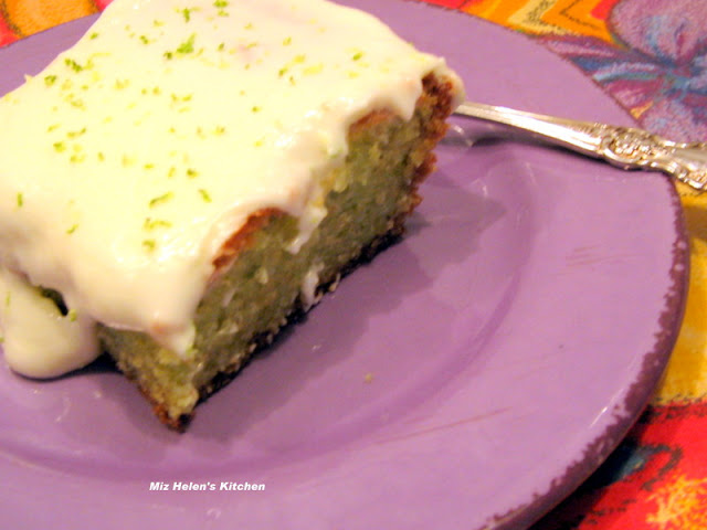 Key Lime Cake at Miz Helen's Country Cottage