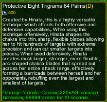 naruto castle defense 6.4 Protective Eight Trigrams 64 Palm detail