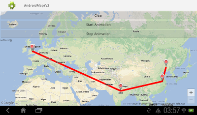 Animation on Google Maps Android API v2