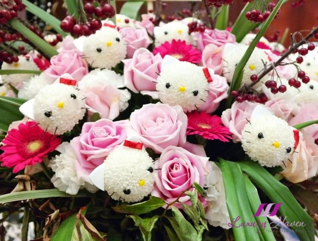 keio plaza hotel japan hello kitty anniversary flowers