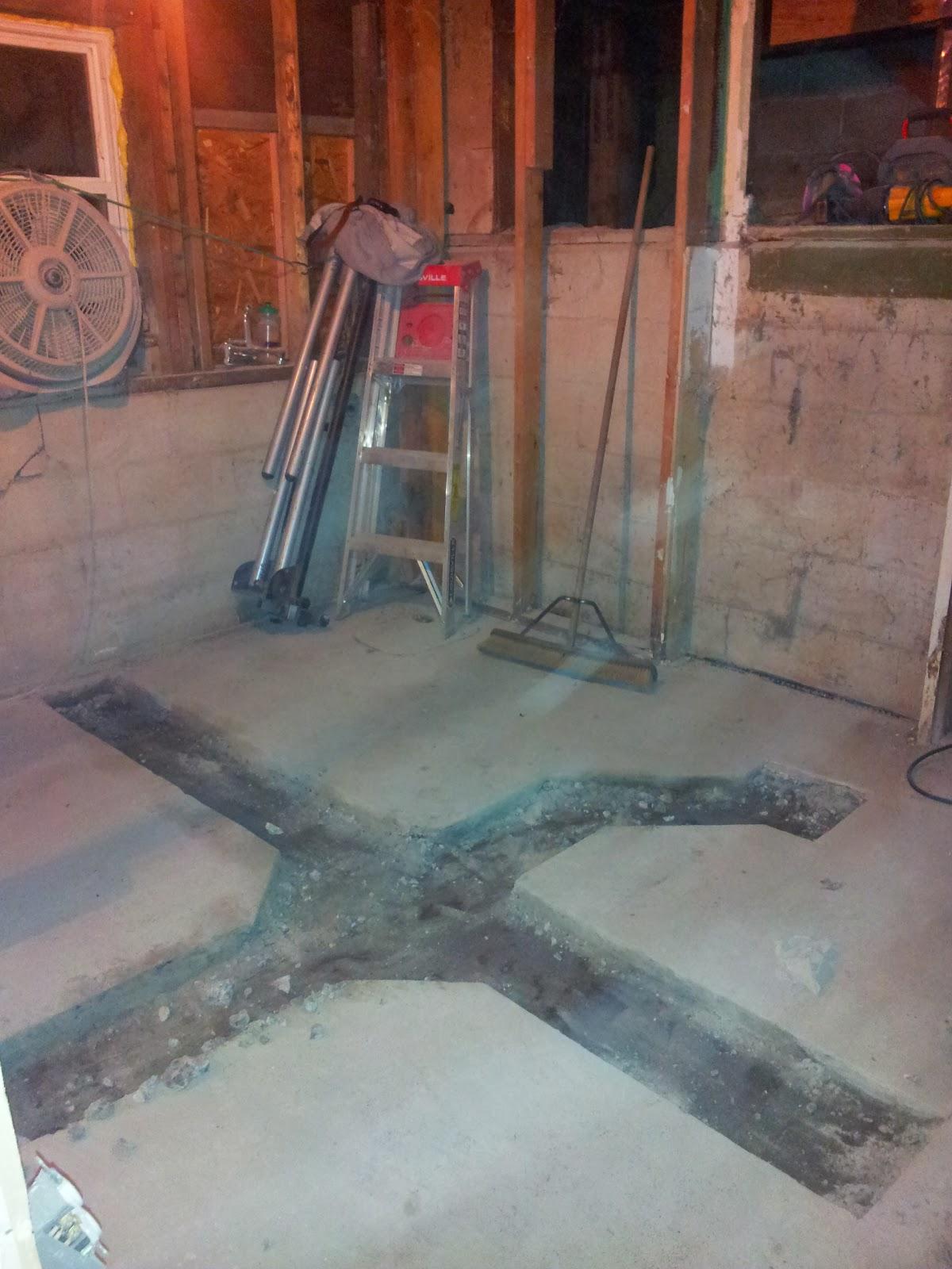 Pedal Petal Basement Remodel Plumbing Groundwork And Framing