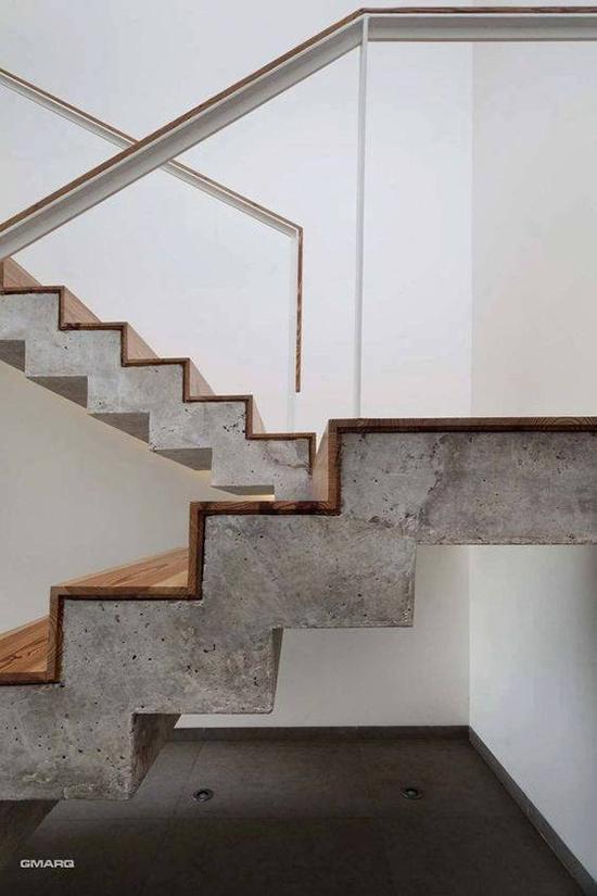 8 desain inspiratif tangga dari concrete beton
