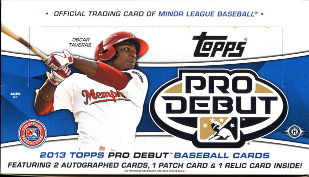 All About Sports Cards 2013 Topps Pro Debut Baseball Box