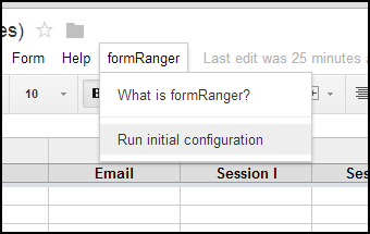 Run the initial configuration.