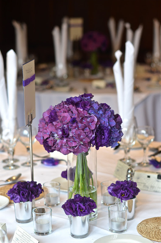 Wedding Flowers Blog Emma S Contemporary Purple Wedding