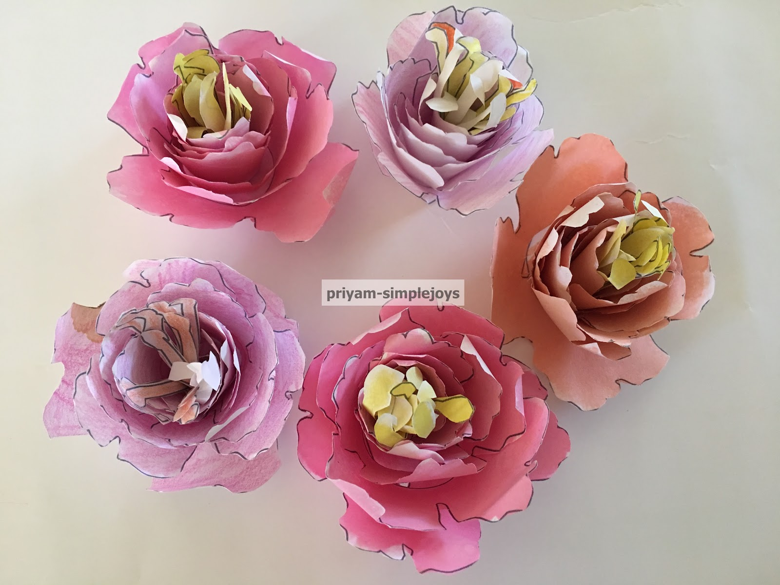 Simplejoys Rolled Paper Flowers