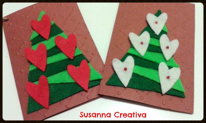 Eccezionale Susanna Creativa.: Biglietti natalizi e feltro. GU97