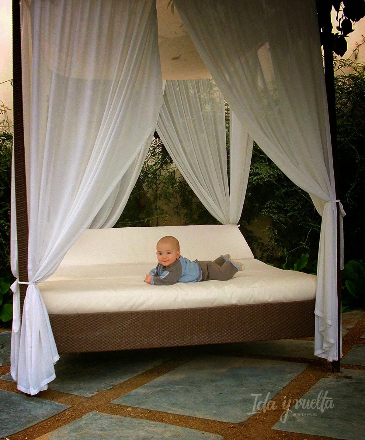 En la cama balinesa Hospes Palacio del Bailío