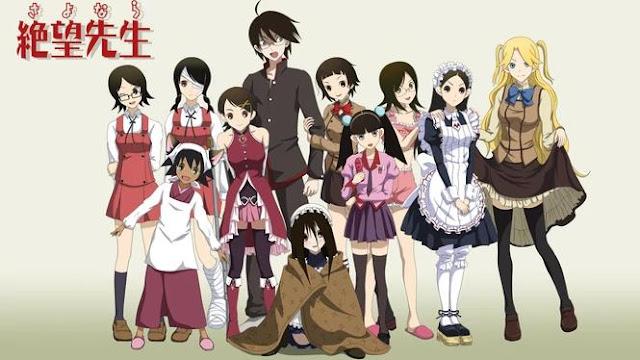 Daftar Anime School Comedy Terbaik dan Terpopuler - Sayonara Zetsubou Sensei