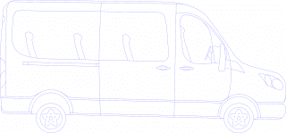 Mini Van Vector Graphics Image