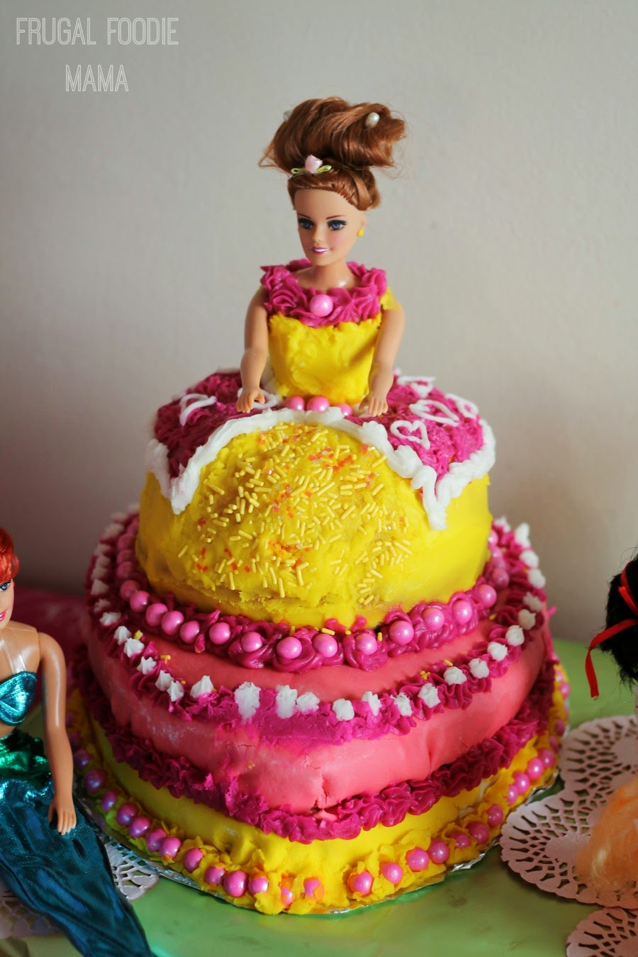 DIY Princess Belle Cake
