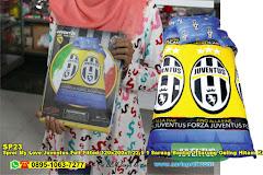 Sprei My Love Juventus Full Fitted 120x200xT.22,5 1 Sarung Bantal 1 Sarung Guling Hitam Kuning Biru Sepak Bola Anak Remaja Dewasa