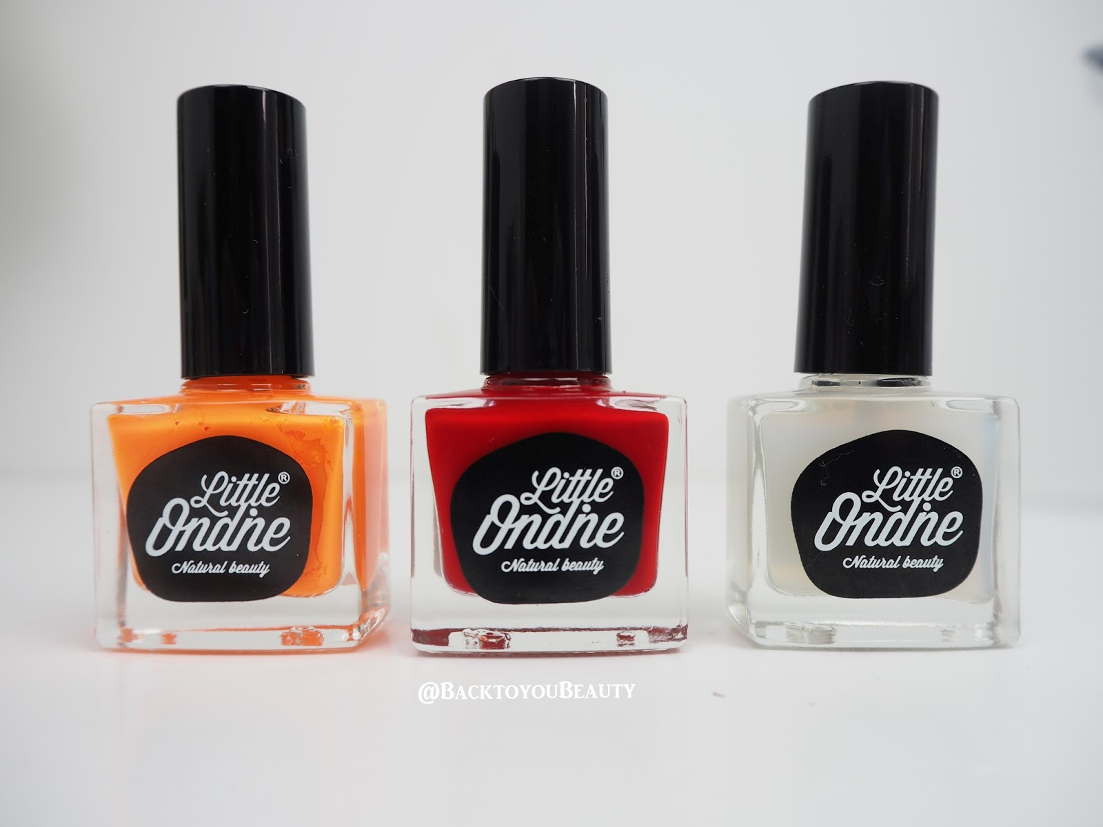 Little Ondine Sunset Trio peelable, natural, odour free nail varnish ...
