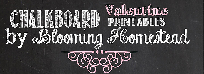 chalkboard printables blooming homestead