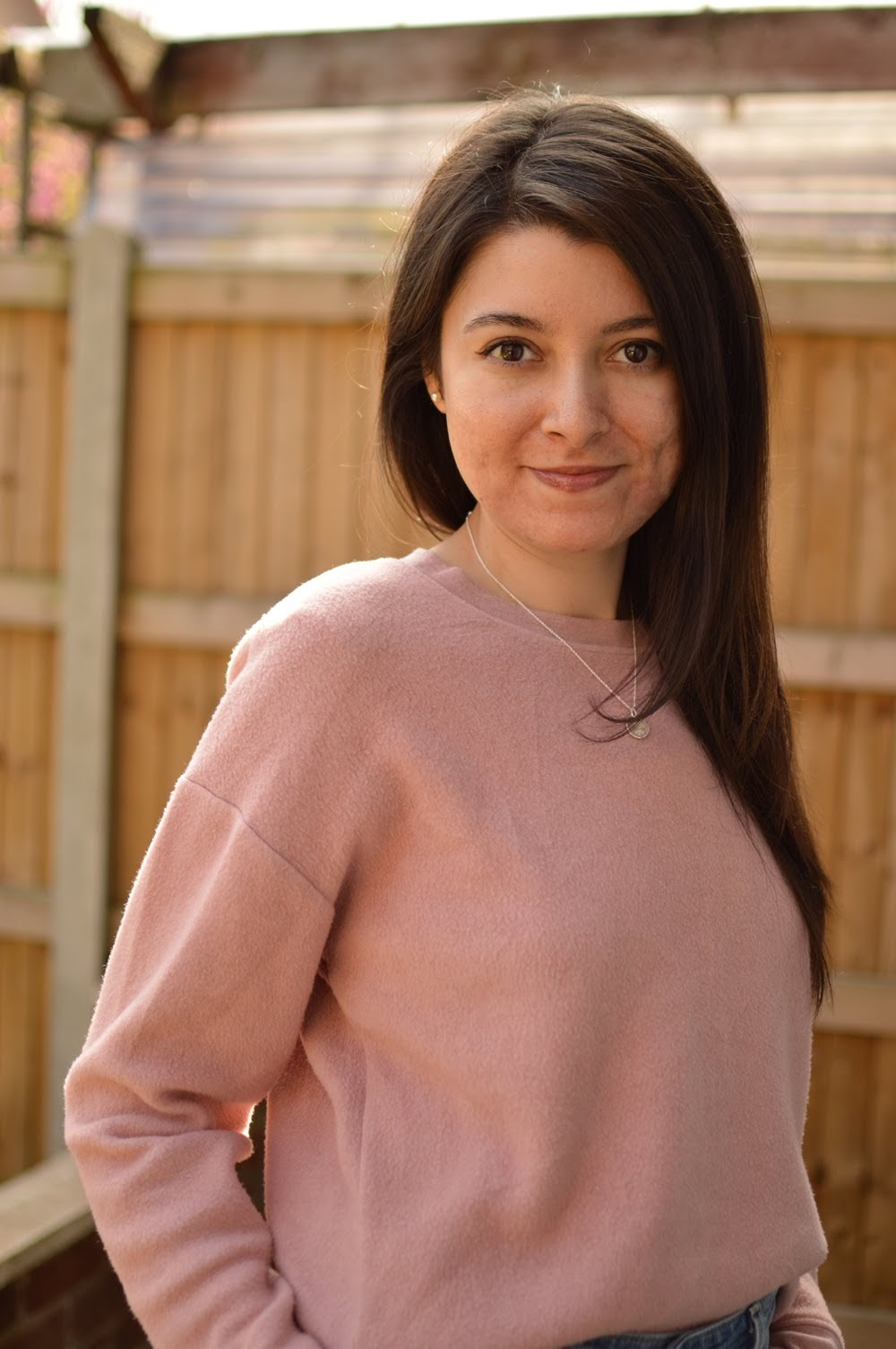 Pink Sweatshirt & Levis