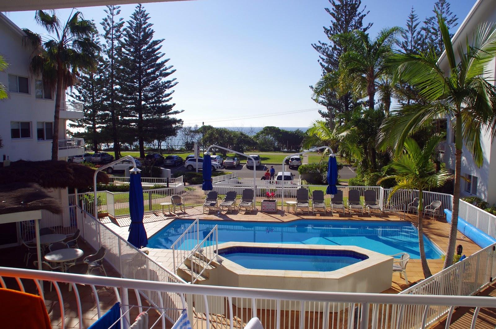 Le beach Apartments Burleigh Heads View from Balcony