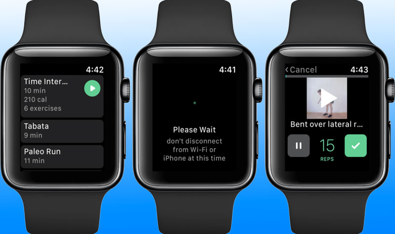 exercise app for apple watch
